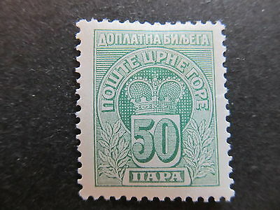 A4P48 Montenegro Postage Due Stamp 1907 50pa mh* #104