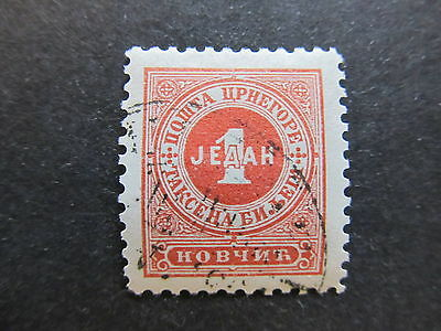 A4P48 Montenegro Postage Due Stamp 1894 1n used #105