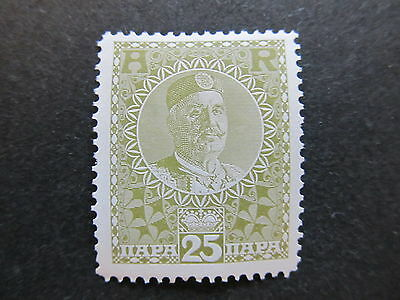 A4P48 Montenegro Receipt Stamp 1913 25pa mh* #100