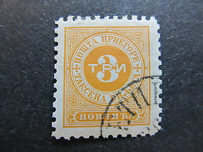 A4P48 Montenegro Postage Due Stamp 1894 3n mh* #107
