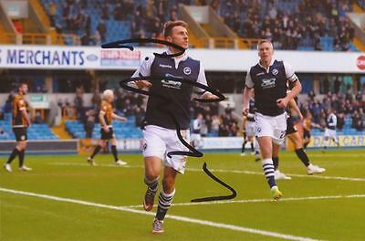 MILLWALL: LEE GREGORY SIGNED 6x4 ACTION PHOTO+COA