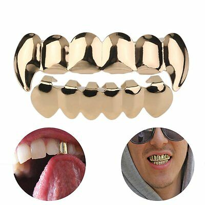 Gold Grill Plated Grills Bling Hip Hop Teeth Gangsta Gangster New Ice Mouth AY