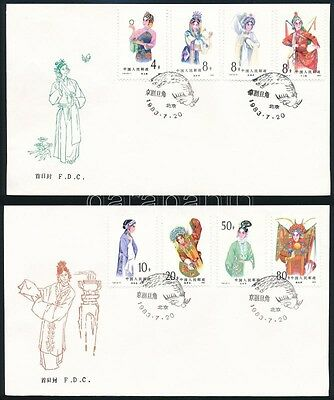 People's Republic of China stamp 1983 Femail Opera roles 2 FDC Mi 1884-1891 (519