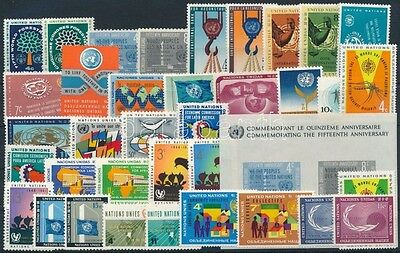 United Nations – New York stamp 1960-1962 12 diff sets + 1 block MNH (393)
