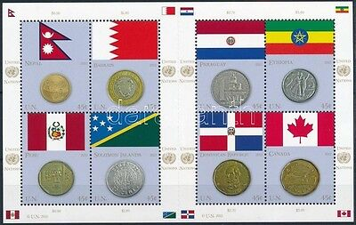UNO– New York stamp 2012 Flags and coins minisheet MNH Mi 1294-1301 (350)