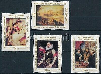 Mauritania stamp 1977 Rubens paintings set MNH Mi 590-593 (209)