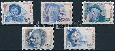 Turkey stamp 1992 Personalities set MNH Mi 2975-2979 (803)