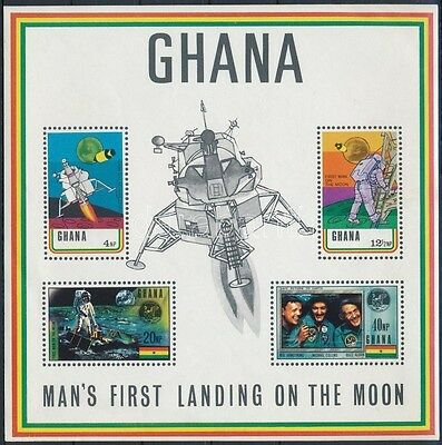 Ghana stamp 1970 Space research block MNH Mi 39 B II (778)