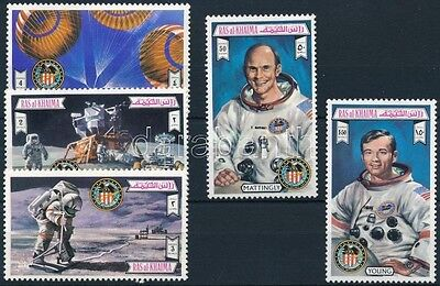 Ras al Khaima stamp 1972 Apollo set MNH MI 738-743 a (702)