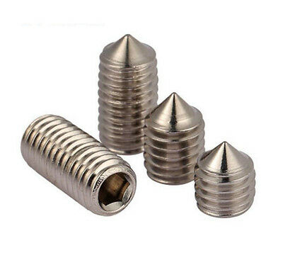 M6 M8 M10 316 Stainless steel HEX Socket GRUB Set Screw Cone Point