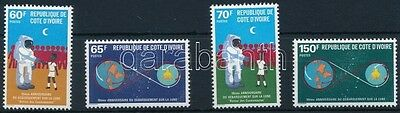 Ivory Coast stamp 1979 Space Research set MNH Mi 602-605 (468)