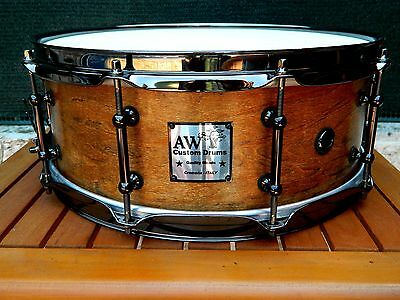"Snare Drum American Maple Keller 14""x5,5"" Old Walnut Finish"
