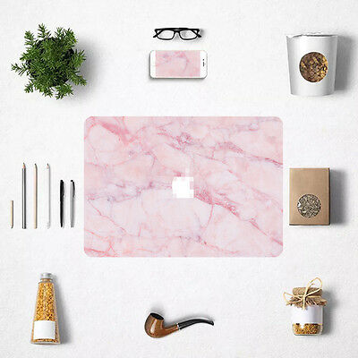 For Macbook Air Pro Retina Dream Pink Marble Print Decal Sticker Full Skin Cover