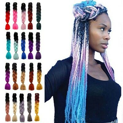 "Synthétique Ombre Tressage Cheveux 24"" Extension Twist Tresses géant chaud"