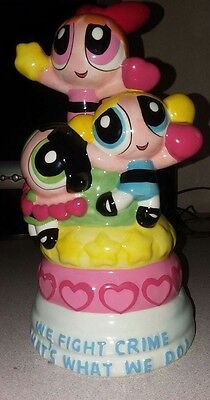 Power Puff Girls Ceramic Painted Bank We Fight Crime That's What We Do Cartoon