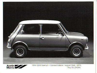 Mini 1100 Special Limited Edition 1979 Original b/w Press Photograph No. 296296
