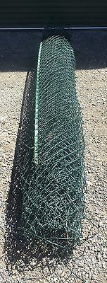 Roll of 9 ft 2m High x 8.5m Long Green Coated Chain Link Fencing 2 Available