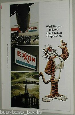 1973 EXXON Oil 4-page advertisement, new Exxon, formerly ESSO Standard Oil