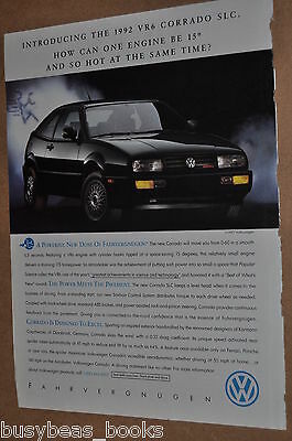 1992 Volkswagen CORRADO advertisement, VOLKSWAGEN Corrado VR6, VW