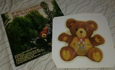 Teddy Bear Picnic 45 RPM Shaped Record 1985 Rare Collectable