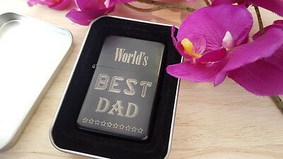 Best Dad Personalised Lighter Father's Day Engraved Birthday Grandad Brother