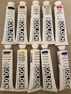 Golden Artists Color Heavy Body Acrylic, Lot of 10 (Lot 12)