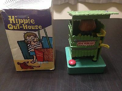 Vintage Hippie Out-House Novelty Humorous Funny Water Toy in Original Box Hong K