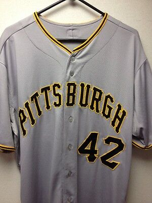 Pittsburgh Pirates #42 Jackie Robinson Day Game Used Jersey Mlb Authentication