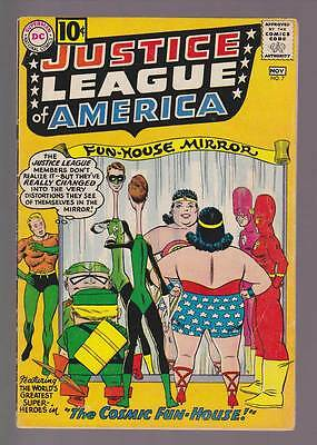 Justice League of America # 7  The Cosmic Fun-House !  grade 4.5 scarce book !