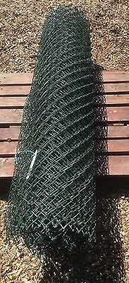Roll of 6ft 1.85m High x 12m Long Green Coated Chain Link Fencing 3 Available
