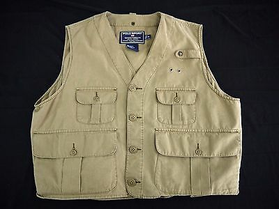 VINTAGE POLO SPORT RALPH LAUREN fishing vest mens XL SPORTSMAN