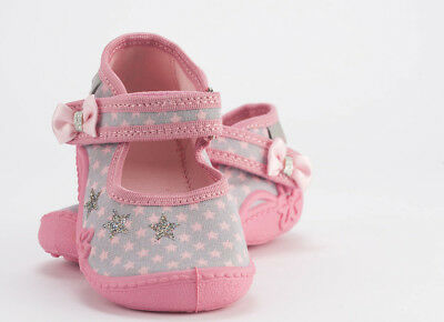Pink canvas shoes slippers trainers for girls sizes 1.5 - 6