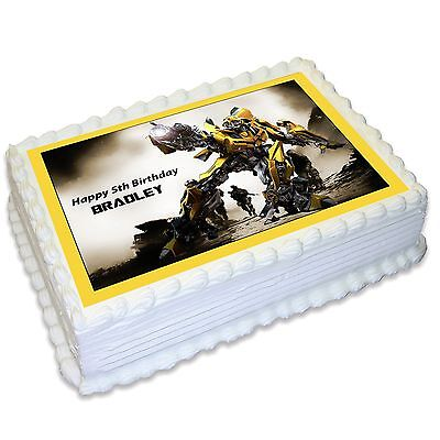 Transformers Bumblebee Personalised A4 Edible Icing Cake Topper