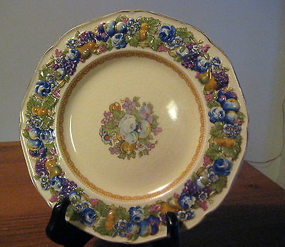 "Vintage Crown Ducal Florentine Plate 8 7/8"" Beautiful Display Plate"