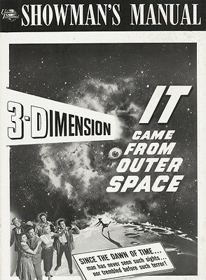 IT CAME FROM OUTER SPACE 3D pressbook, Richard Carlson, Barbara Rush