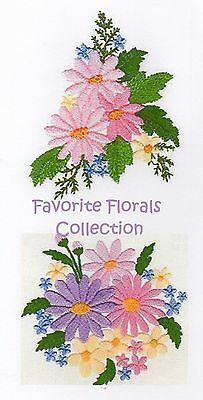 Favorite Florals Collection  - Machine Embroidery Designs On Cd