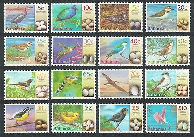 Bahamas Birds and their Eggs 16v SG#1249/64