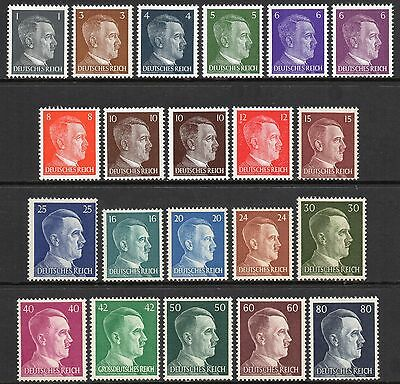 GERMANY 3rd REICH WWII 1941-1944 Adolf Hitler Head Issue Fine MINT NH / MNH