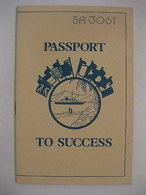 Vintage Amway Passport To Success stapled booklet shows you how to