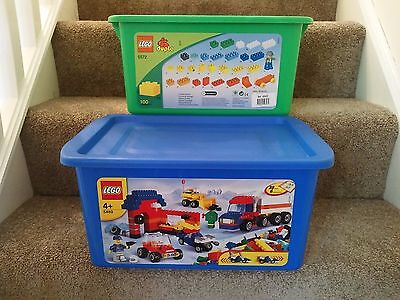 2x  Official Large LEGO Storage Boxes  EMPTY TUBS