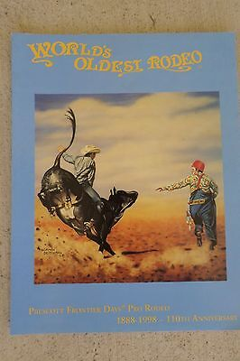 1998 World Oldest Rodeo Prescott Frontier Days Souvenir Official Program Arizona