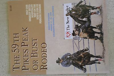 1999 Pikes Peak Or Bust Rodeo Souvenir Official Program Colorado Springs