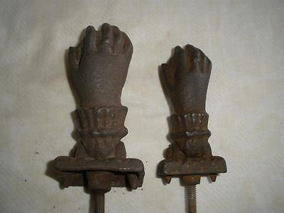 Victorian Door Knocker Ladies and chilld Hand Cast Iron Antique set of 2