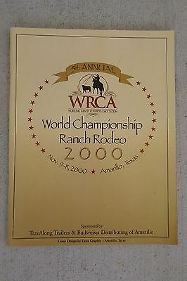 2000 Wrca Cowboy World Championship Rodeo Souvenir Official Program Amarillo Tx