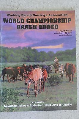 1999 Wrca Cowboy World Championship Rodeo Souvenir Official Program Amarillo Tx