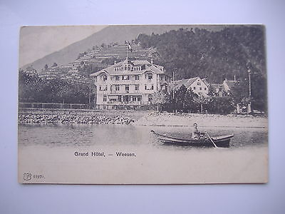 POSTCARD Grand Hotel Weesen Switzerland Unposted