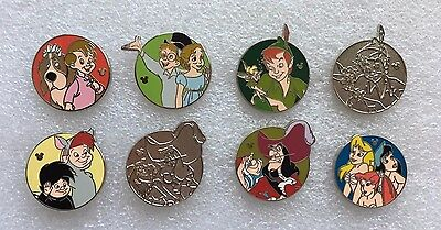 Disney Pin - DLR 2013 Hidden Mickey Series Peter Pan & Friends Complete Set of 8