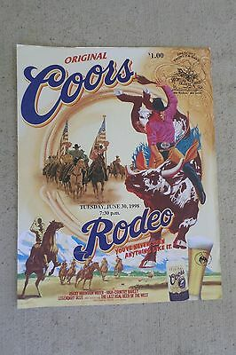 1998 Prescott Frontier Days Rodeo Official Program Score Card Arizona