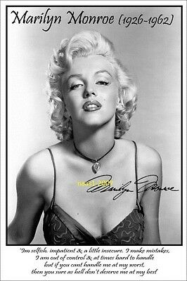4x6 SIGNED AUTOGRAPH PHOTO PRINT OF MARILYN MONROE #38
