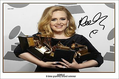 4x6 SIGNED AUTOGRAPH PHOTO PRINT OF ADELE #51